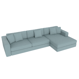Reid Sectional with Chaise, Left Ultrasuede