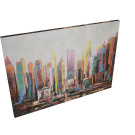 Colourful City Handmade Oil Painting
