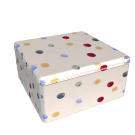 Emma Bridgewater Polka Dot, Large Square Tin