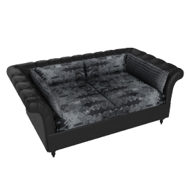 Clove 3 Seater Grey and Black