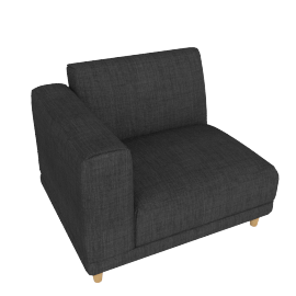 Lauren 1-Seater Sofa with Left Arm