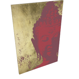 Ulyana Hammond - Buddha Canvas Print, Red and Gold, 68 x 100cm