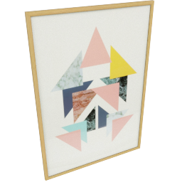 Trianga Framed Abstract Print
