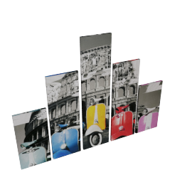 Artebikes 5-piece Canvas Print Wall Art