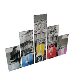 Artebikes 5-piece Canvas Print Wall Art