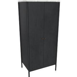 Morrison Armoire, Ebonized Oak, Carrara