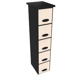 Leather CD / DVD Tower