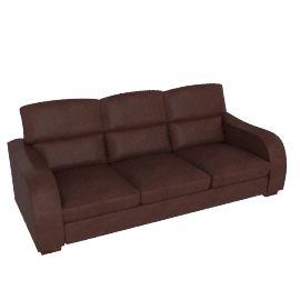 Granada Grand Leather Sofa, Brown