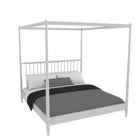 Lomond 4 Poster Bed French grey, super king