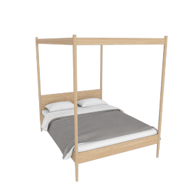 Cove Canopy Queen Bed, Oak