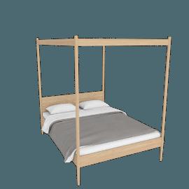 Cove Canopy Queen Bed, Oak