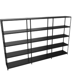Steelwood Shelving System, Black, 5x3