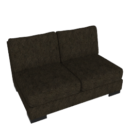 Signature 2 Seater Armless, Brown