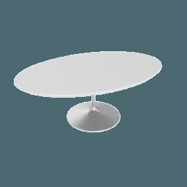 Saarinen Low Oval Coffee Table - Laminate - Platinum.White