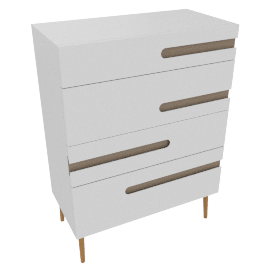 Notch 4 Drawer Drawer Chest