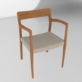 Moller Model 57 Armchair in Walnut with Hallingdal Seat - Walnut.Grey
