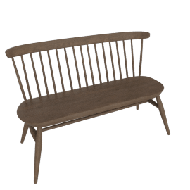 Originals Loveseat Bench, Walnut