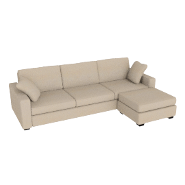 Tom Sofa Bed, Right Hand Facing, Beige