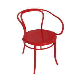 Era Round Armchair - Red