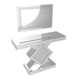 Bling Console With Mirror, Slv