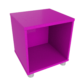 Box Single Cube Unit, Purple