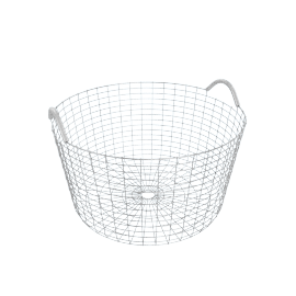 Korbo Handmade Wire Basket, Classic 35, Stainless Steel