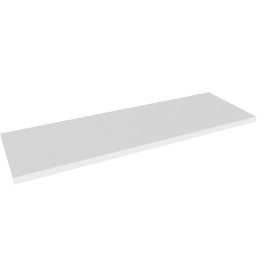 Belfast Rectangular Wall Shelf, White