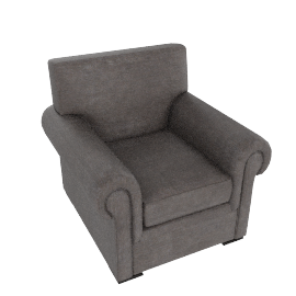 Romsey Armchair, Pendle Woven Chenille Charcoal