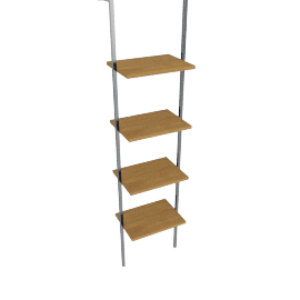 Matrix Single Narrow Shelf Unit