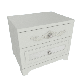 Elena Decorative 2-Drawer Night Stand