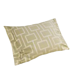 Geometric Boudoir Pillowcase, Green