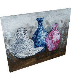 The Last Red Jar Mosaic Glass Art - 73.5x3.5x61 cms