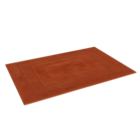 Aristocrat Plush Bathmat - 60x90 cms, Orange