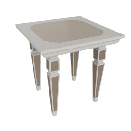 Kingston End Table, Pearl Champagne