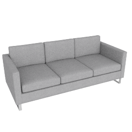 Goodland Sofa Stainless Legs, Basket Weave Silver
