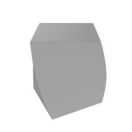 Frank Gehry Left Twist Cube - Silver