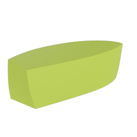 Frank Gehry Bench, Green