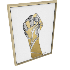 Sign Language XI by KelliEllis - 30''x40'', Gold