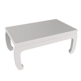 Chinese Collection Mulan Coffee Table, White