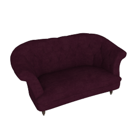 HAYWORTH MEDIUM SOFA, Ruben Blackberry
