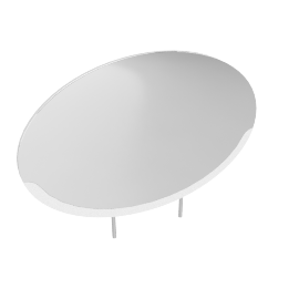 WAVE MIRROR (L), White