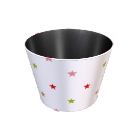 Multicoloured Stars Wastepaper Bin