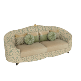 Cameron 3 Seater, Teal Gold