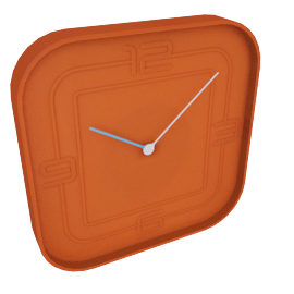 Ben Wall Clock, Orange