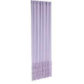 Amanda Ruffles 2-Piece Curtain Set - 135x240 cms, Purple