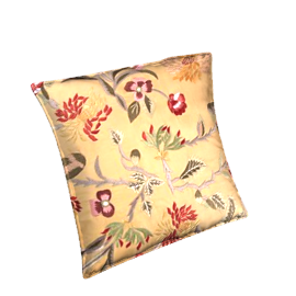 Chrysanthemum Cushion, Gold