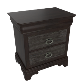 Karington 3 Drawers Night Stand, A.Grey Oak
