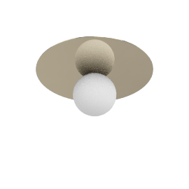 Bola Ceiling Lamp 12'', Brass