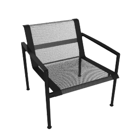1966 Collection Lounge Chair with Arms, Onyx