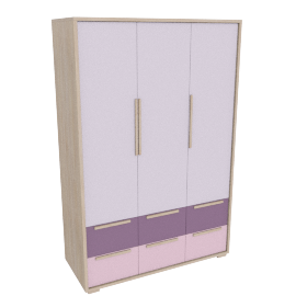 Bekka 3 Door and 6 Drawer Wardrobe